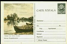 1958 Fishing,Fisherman boat,Danube Delta fisherman village,Romania,rare Ps card