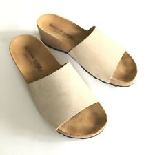 d9940fe655 Marina Luna Comfort Sandals Mirta Stone Suede Size 7 US Slides Made Italy