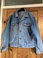 WESTERN TRADING Mens Blue Collared  Denim Jacket Size L