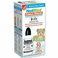 NeilMed Sinus Rinse Kids Starter Kit, One Squeeze Bottle & 30 Premixed Packets