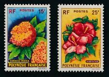 French Polynesia 196-97 Mint NH Flowers