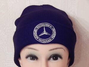 MBIG Mütze Strickmütze Mercedes Benz Beanie mit Krempe Einheitsgröße