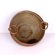 Antique Copper Hand Carved Decorative Flower Pot Indian Tribal Boiler Rich Patin