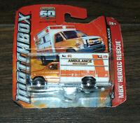 2013 Matchbox 2009 Ford E-350 Ambulance MBX Heroic Rescue Series 30120