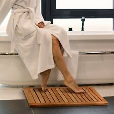 Natural Bamboo Floor Mat for Shower Spa Relaxation, 100% Moso Bamboo Shower Mat