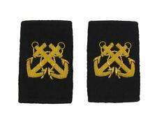 Bosun Epaulette Crossed Anchors Embroidered Gold Bullion Black Felt