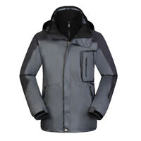 E20 Men Grey Ski Snow Snowboard Winter Waterproof Breathable Jacket S M L XL XXL