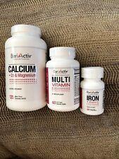 BARIATRIC VITAMINS - BariActiv Multi, Iron, Calcium - ONE Month Supply!