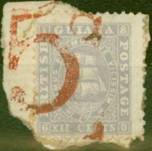 Britisch Guayana 1860 5d IN Rot Auf 12c Lila Versand Zahlbar Von Kolonie Zu Toll