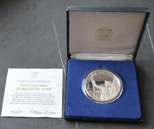 Panama 20 Balboa 1978 PP , Silber  120 g. Fein *** Bolivar