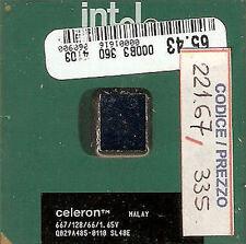 221.67 - INTEL - PROCESSORE PENTIUM CELERON - 667 MHz - 66 MHz