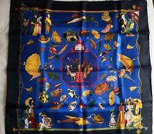 Foulard HERMES carré OMBRELLES ET PARAPLUIES  - H. De Watrigant  scarf