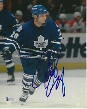 TIE DOMI Signed Toronto MAPLE LEAFS 8x10 PHOTO with Beckett COA