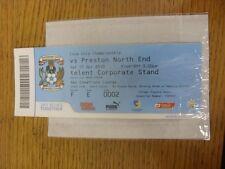 17/04/2010 BIGLIETTO: Coventry City V Preston NORTH End (SKY creazioni Lounge) delle Nazioni Unite.