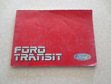 1980s Ford Transit van owners manual