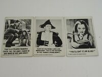 1964 Munsters Trading Card Lot of 5 - Numbers 8, 56 & 69 Leaf