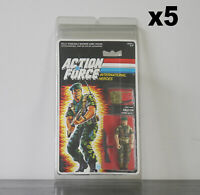 5 x Protective Cases For MOC Vintage Action Force Taller Carded Figures