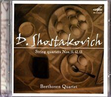 SHOSTAKOVICH -String Quartets No. 11, 12 & 13 CD -Beethoven Quartet RARE