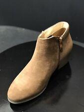 New Reneeze Womens Beauty-03 Stacked Heel Side Zipper Camel Ankle Booties Size 6