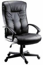 Gloucester: Leather Executive Padded Office Chair by Teknik with FREE Delivery