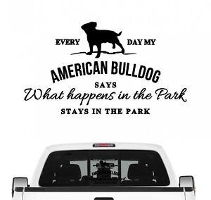 American Bulldog Aufkleber Vintage Hundeaufkleber Hundemotiv