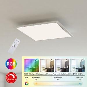 rahmenlos 595x595x75mm LxBxH inkl Briloner Leuchten LED Panel Farbtemperatursteuerung 3.800 Lumen Fernbedienung Wei/ß 38 Watt LED Deckenlampe dimmbar
