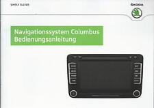 SKODA Navigation COLUMBUS 2013 2014 Betriebsanleitung  Handbuch  RN