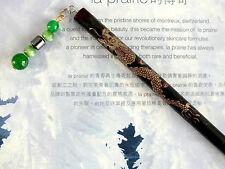 Giapponese Black Gold Dragon capelli BACCHETTE STICK giada cinese Festa di Compleanno XX