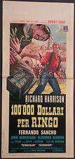 Locandina 100.000 DOLLARI PER RINGO 1965 RICHARD HARRISON, FERNANDO SANCHO