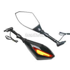 LED Turn Signal Mirrors For Honda Suzuki Kawasaki Yamaha Street  Scooter Bikes