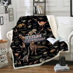 Dinosaur Blanket Bedding Sheet Sofa Cover Throw Nap Blanket As Mat Travel Picnic