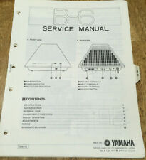 YAMAHA B-6 STEREO POWER AMPLIFIER ORIGINAL SERVICE REPAIR MANUAL