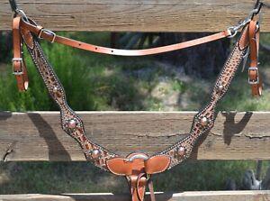 Reinsman Sharon Camarillo Diamond Sure Fit Breast Collar Tan Gator Copper
