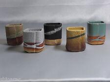 "5 bonsai pot set shigaraki grès ""carré mini"" w5cm petits japonais"