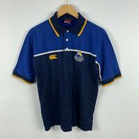 Brumbies ACT Rugby Mens Polo Shirt Size Small Blue Short Sleeve Collared Vintage