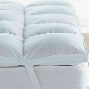 """Luxury 4"""" Duck Feather Down Mattress Topper Mattress Cover Available All Sizes"""