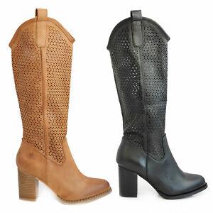 Scarpe donna stivali estivi traforati primaverili tacco comodo TOOCOOL G-627