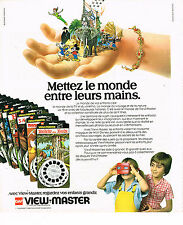 PUBLICITE ADVERTISING 045 1978  GAF jeu jouets VIEW-MASTER  monde WALT DISNEY
