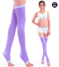 Lady Slim Leg Sleep Compression Socks Varicose Prevent Veins Thigh High Stocking