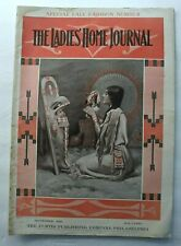 1909 LADIES HOME JOURNAL MAGAZINE AMERICAN INDIAN WOMENS FASHION CLOTHING DOGS