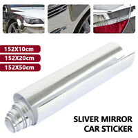 Chrome Mirror Flexible Car Vinyl Wrap Mirror Sheet Roll Film Silver Protective