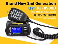 QYT KT- 8900D Quad display mini dual band mobile radio + w/ program cable