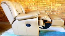 Tessa Leather Swivel Recliner Armchair Set