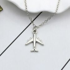 Jewelry Metal Air Plane Necklace Pendant Chokers
