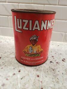 Luzianne coffee vintage can - black americana