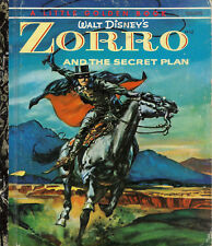 LITTLE GOLDEN BOOK D52 1974 WALT DISNEY'S ZORRO & The Secret Plan - Golden Press
