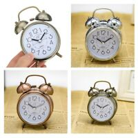 Retro Loud Double Bell Mechanical Alarm Clock Silent Sweep Quartz Clock Time