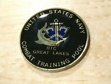 USN Navy RTC Great Lakes Combat Training Pool Challenge Coin