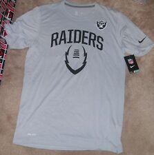 NEW NFL Oakland Raiders Football T Shirt NIKE Dri Fit Men M Medium NEW NWT