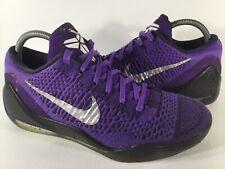 Nike Zoom Kobe 9 Elite Low Moonwalker Hyper Grape Black Size 8 Rare 639045-515